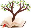 Illustration of tree growing in open book Royalty Free Stock Image
