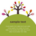 Illustration of tree text Royalty Free Stock Photos