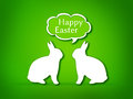 Illustration of two rabbits face to face talking easter Royalty Free Stock Images
