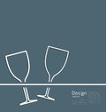 Illustration Two Wineglass Wed...