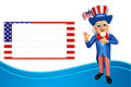 Illustration of uncle sam with best sign d rendered Royalty Free Stock Images