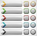 Various website buttons Royalty Free Stock Photo