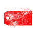 Illustration vector grunge stamp of empty red price tag. Royalty Free Stock Photo