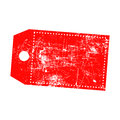 Illustration vector grunge stamp of empty red price tag with mar Royalty Free Stock Photo