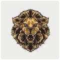 Illustration vector of head lion