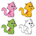 Illustration very cute cartoon cats Royalty Free Stock Photo