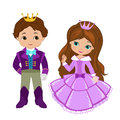 Illustration of very cute Prince and Princess Royalty Free Stock Photo