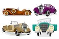 Illustration vintage car white background Royalty Free Stock Photography
