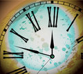 Illustration of Vintage Distressed Clock Royalty Free Stock Photos