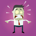 Illustration walking male zombie wearing shirt tie Royalty Free Stock Photography
