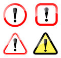 Illustration warning sign white background Stock Images