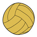 Illustration of water polo ball Royalty Free Stock Photography