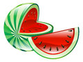 Illustration of watermelon fruit icon clipart an Royalty Free Stock Images
