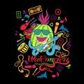 Illustration watermelon tshirt design Royalty Free Stock Photo