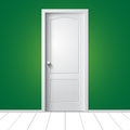 Illustration of a white door Stock Image