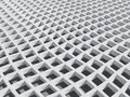 Illustration: white square cellular bent lattice Royalty Free Stock Image