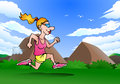 Illustration woman doing jogging nature Royalty Free Stock Image