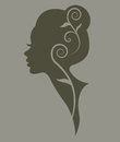 Illustration of women silhouette green icon