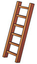 Illustration of a wooden ladder Royalty Free Stock Photo
