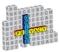 Illustration of word online privacy using text Stock Photo