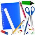 Work draw sketch stationary set illustration Royalty Free Stock Photo