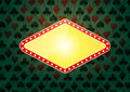 Illustration of yellow banner for casino with green background Royalty Free Stock Photography