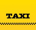 Illustration yellow taxi word symbol Stock Photo