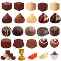 Illustrations assortment of different sweets on a white background Royalty Free Stock Photo