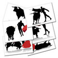 Illustrations with a bullfighter in Spain Royalty Free Stock Images