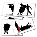 Illustrations with a bullfighter in Spain Royalty Free Stock Image