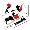 Illustrations with a bullfighter in Spain Stock Photography