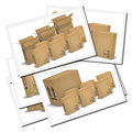 Illustrations of corrugated cardboard boxes Stock Images