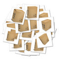 Illustrations of corrugated cardboard boxes Royalty Free Stock Photography