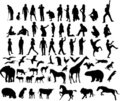 Ilustrace z lidé a zvířata