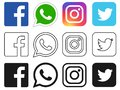 Social media icon for Facebook, Whatsapp, Instagram, Twitter
