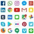 Social media icon for Facebook, Whatsapp, Skype, Youtube, Instagram, Snapchat, Hangout, Twitter