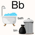 Illustrator of b vocabulary for education Royalty Free Stock Images