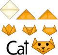 Illustrator of cat origami Royalty Free Stock Photo