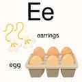 Illustrator of e vocabulary for education Stock Photos