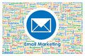 Illustrator of email marketing for business concept sign and symbol Stock Photo