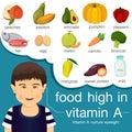 Illustrator of food high in vitamin a