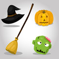 Illustrator of Halloween icon set Royalty Free Stock Photo