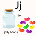 Illustrator of j vocabulary for education Stock Photography