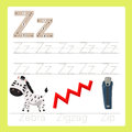 Illustrator of z exercise a z cartoon vocabulary for kid Stock Images