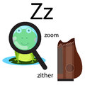 Illustrator of z vocabulary for education Stock Photography