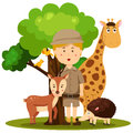 Illustrator of zoo keeper man Royalty Free Stock Photo