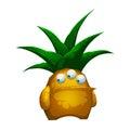 Illustrazione forest pineapple monster fantastico isolato su fondo bianco Fotografia Stock Libera da Diritti