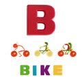 Illustrerat alfabet illustration av bokstaven b Arkivbild