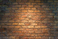 Iluminated brick wall texture background Royalty Free Stock Photos