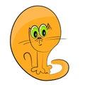 Ilustración del animal doméstico del gato icon.cartoon Imagen de archivo